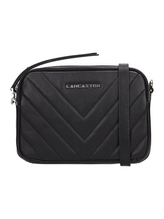 Lancaster Paris Black Quilted Leather Mini Parisien Coutur Bag