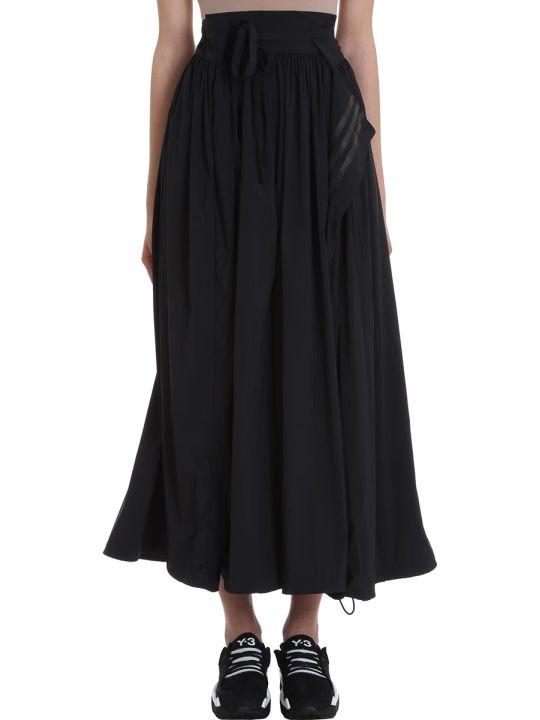 Y-3 Black Nylon Skirt