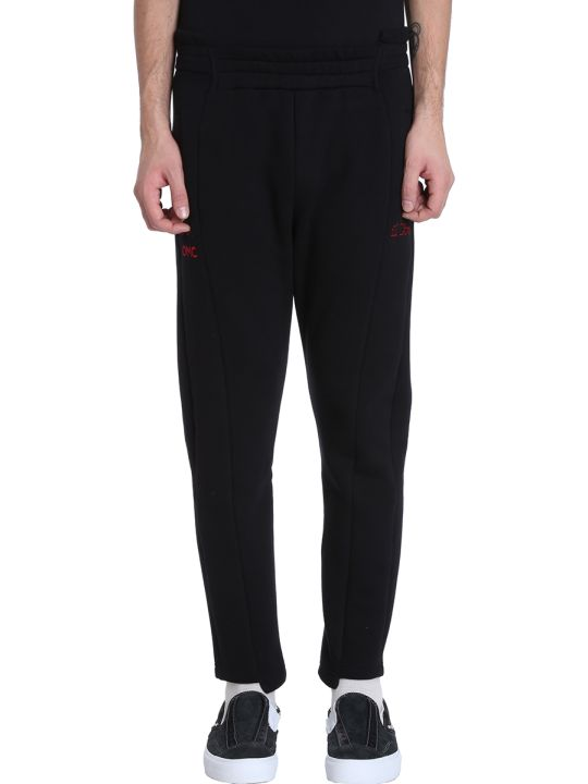 OMC Black Cotton Trousers