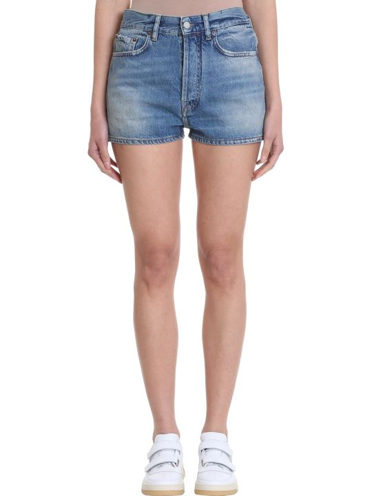 Acne Studios Blue Denim Shorts
