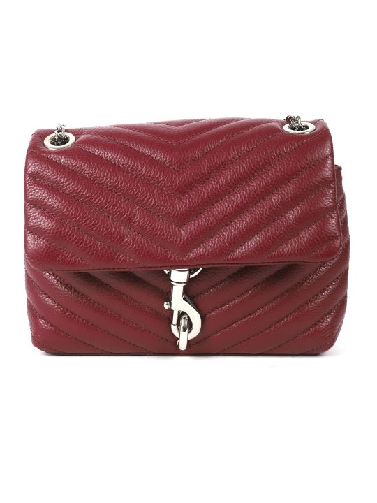 Rebecca Minkoff Burgundy Edie Crossbody Bag