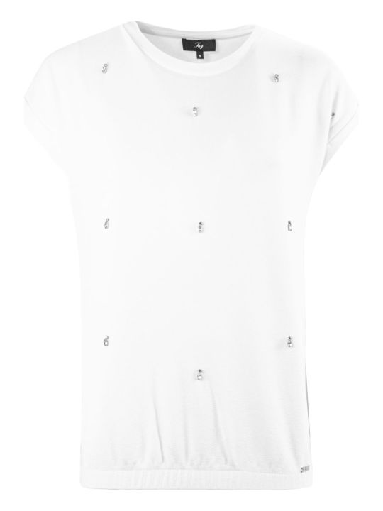 Fay Cream Jewel T-shirt