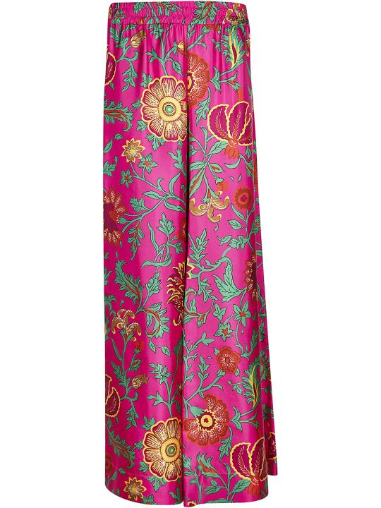 La DoubleJ Floral Printed Palazzo Trousers