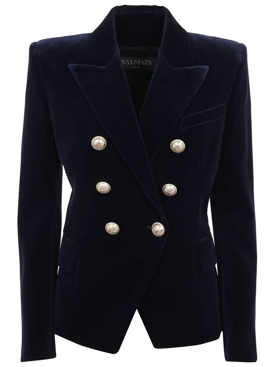 Balmain 6 Btn Velvet Jacket