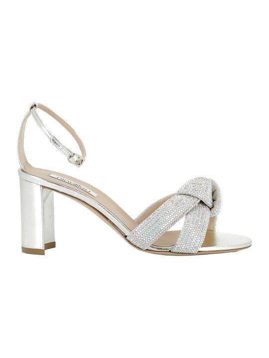 Ninalilou Platino Leather/glitter Sandals