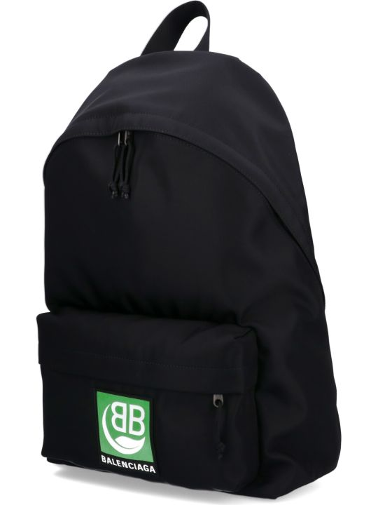 Balenciaga Explorer Backpack Green Logo