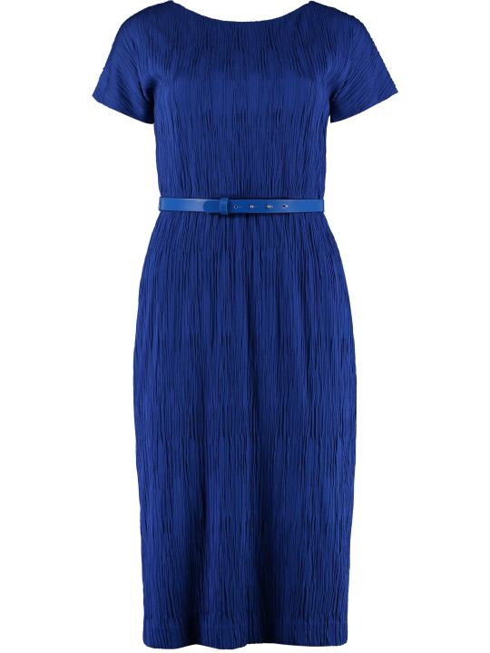 Max Mara Studio Golena Belted Sheath Dress