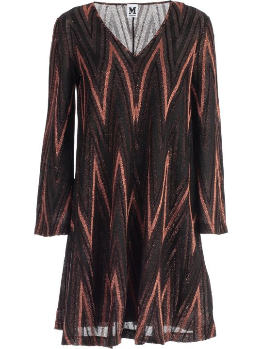 M Missoni Dress L/s Jersey Lurex