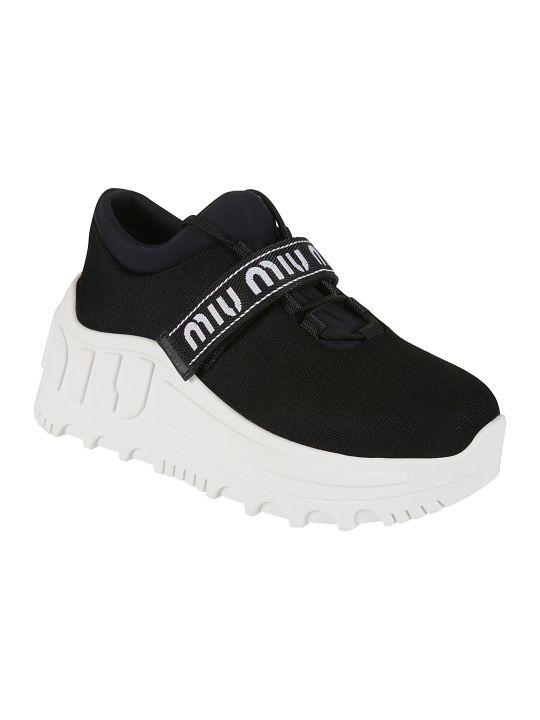 Miu Miu Strapped Logo Detail Sneakers