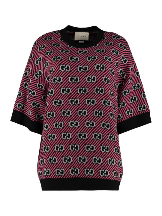 Gucci Jacquard Knit Top