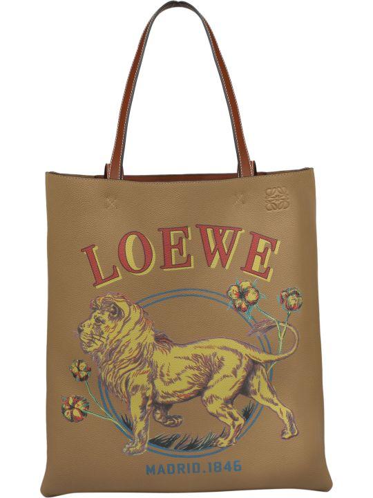 Loewe Lion Vertical Tote