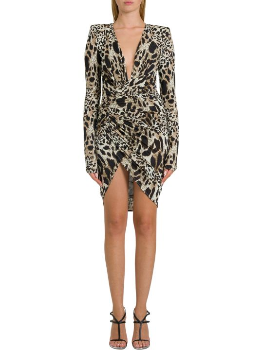 Alexandre Vauthier Animalier Short Dress