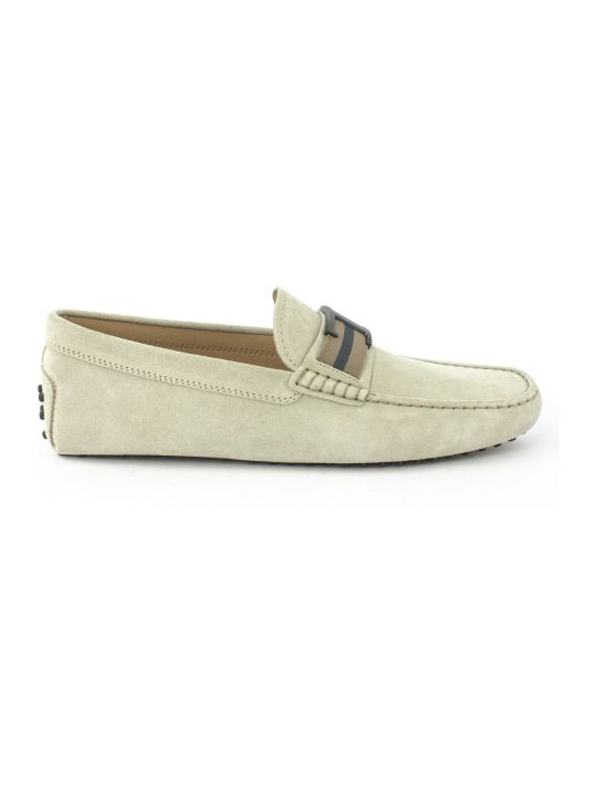 Tod's City Gommino Beige Suede