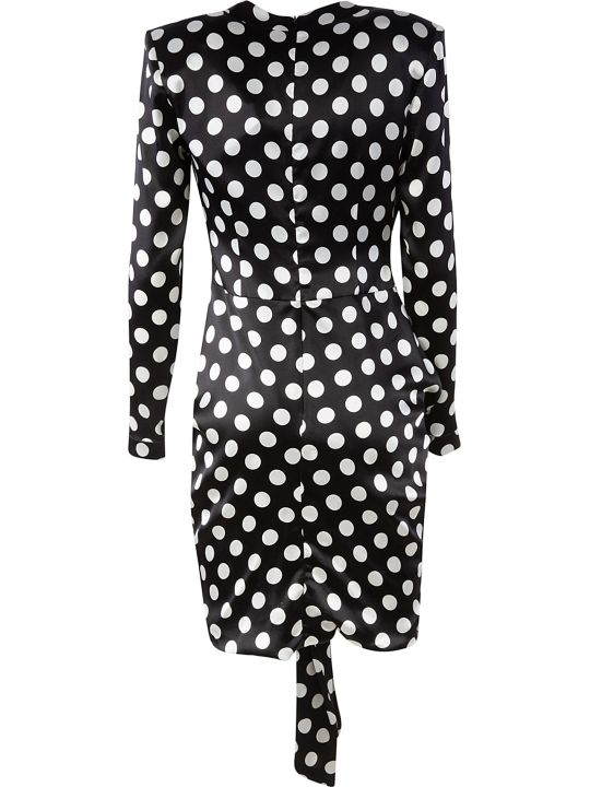 Giuseppe di Morabito Dotted Draped Short Dress