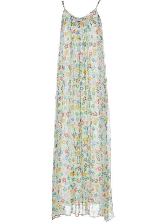 Essentiel Floral Print Maxi Slip Dress