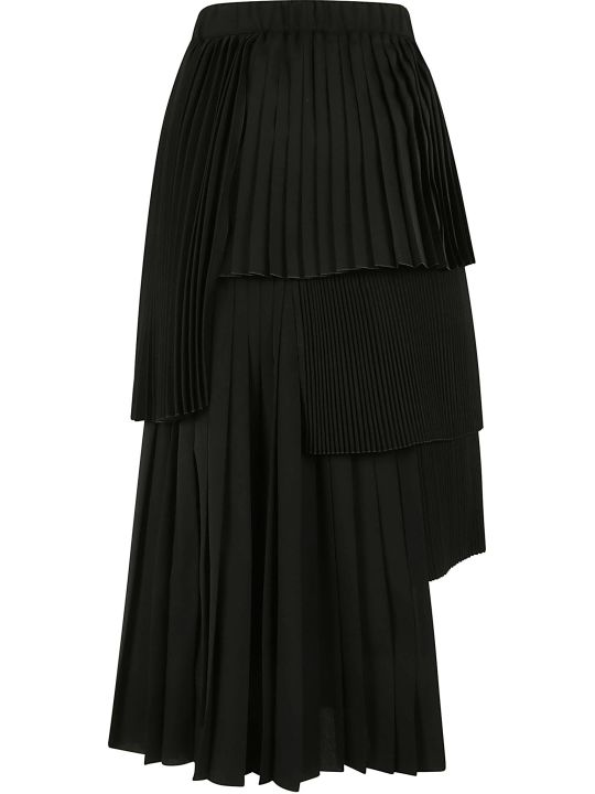 N.21 Pleated Layered Skirt