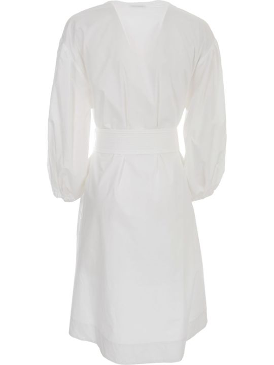 Parosh Cotton Dress 3/4s W/belt
