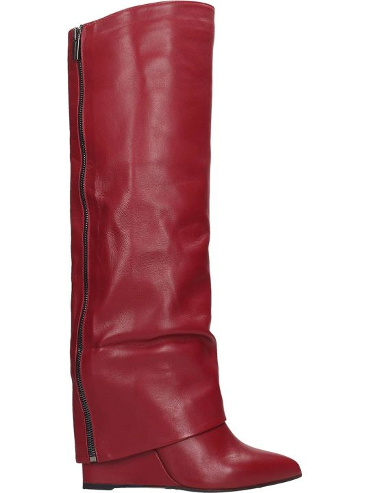 The Seller Boots In Bordeaux Leather