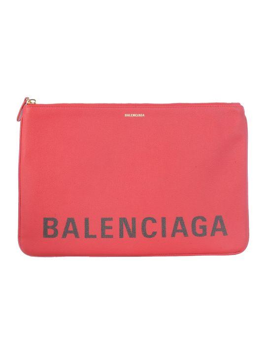 Balenciaga Logo Print Clutch