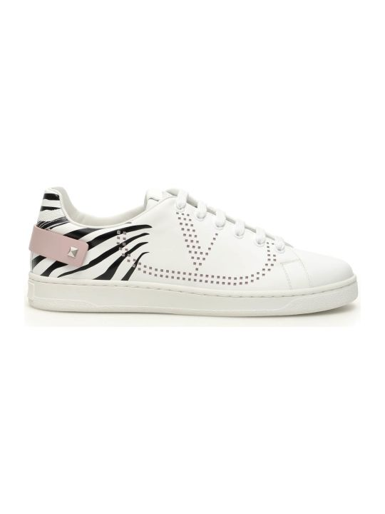 Valentino Backnet Sneaker Vlogo Zebra Print