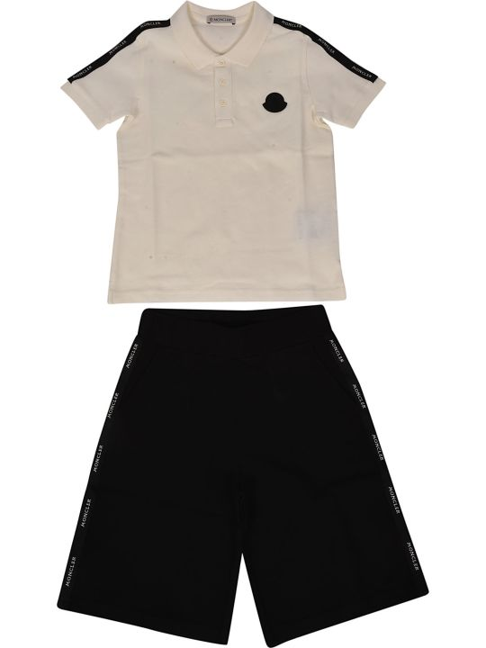 Moncler Kids Paneled Shorts Set