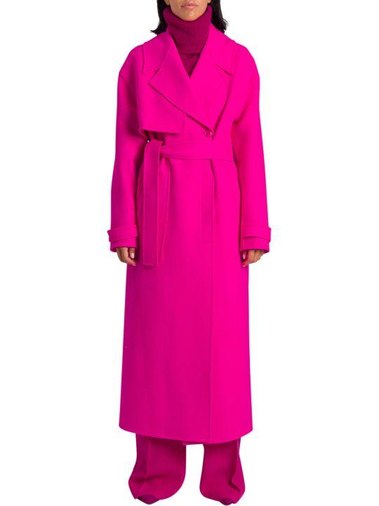 Jacquemus Sabe Fluo Pink Coat