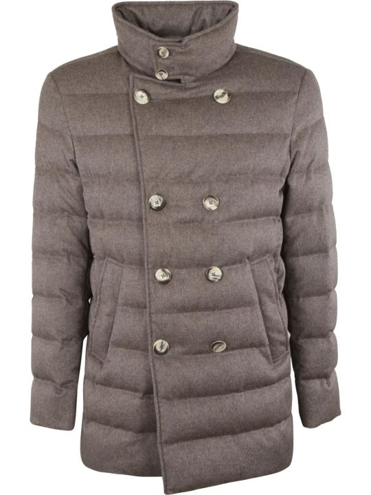 Herno Woven Double Buttoned Padded Jacket
