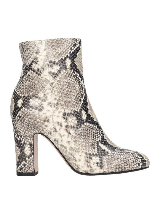 The Seller High Heels Ankle Boots In Animalier Leather