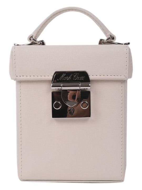 Mark Cross White Grace Cube Mini Bag