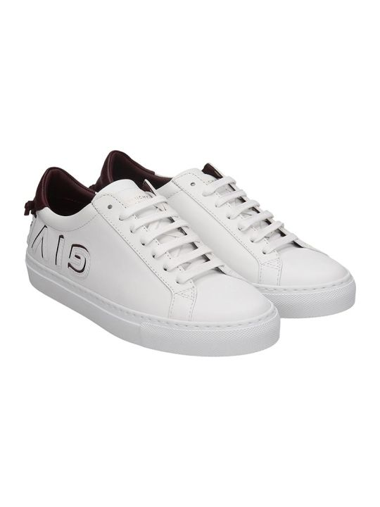 Givenchy Urban Street Sneakers In White Leather