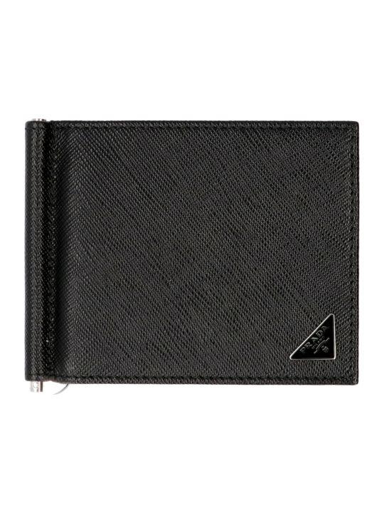Prada Logo Leather Wallet