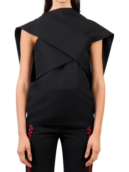 Haider Ackermann Black Drape Top