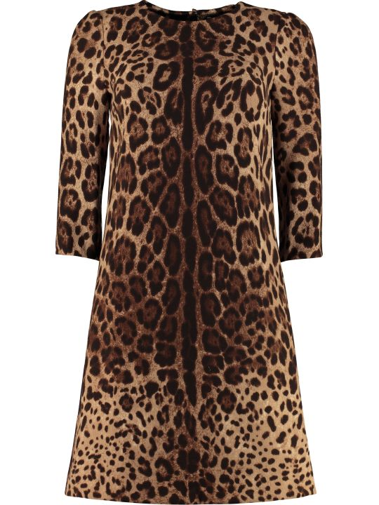 Dolce & Gabbana Leopard Print Sheath Dress