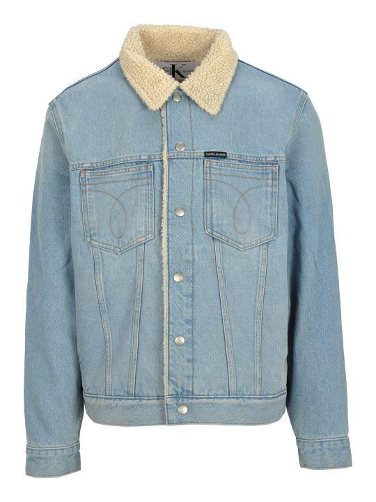 Calvin Klein Jeans Faux Shearling Lining Denim Jacket