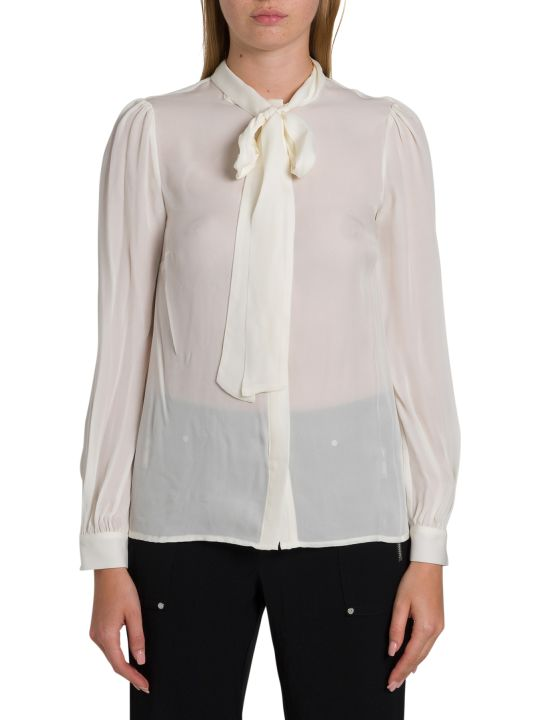 MICHAEL Michael Kors Silk Shirt With Bow On The Neck