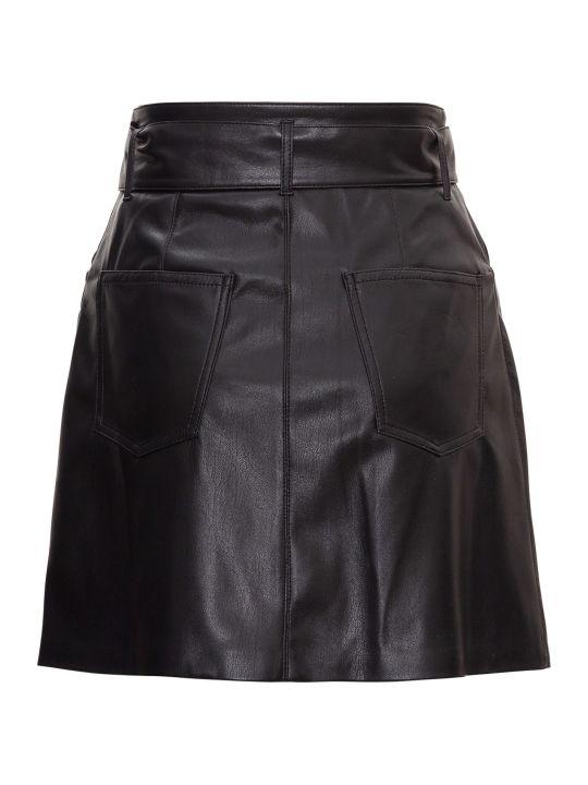 Nanushka Vegan Leather Belted Mini Skirt