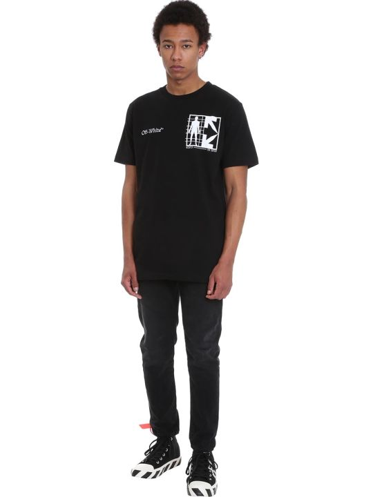 Off-White Half Arrow T-shirt In Black Cotton