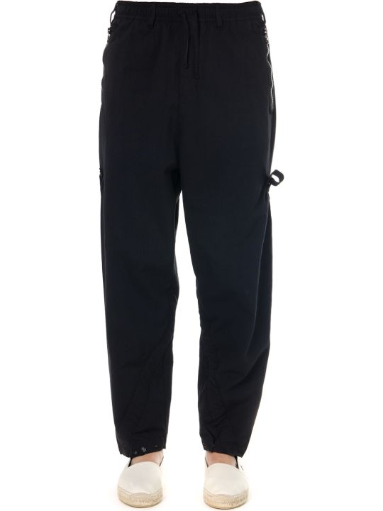 Stone Island Shadow Project Black Cotton Shadow Project Hollow Pants