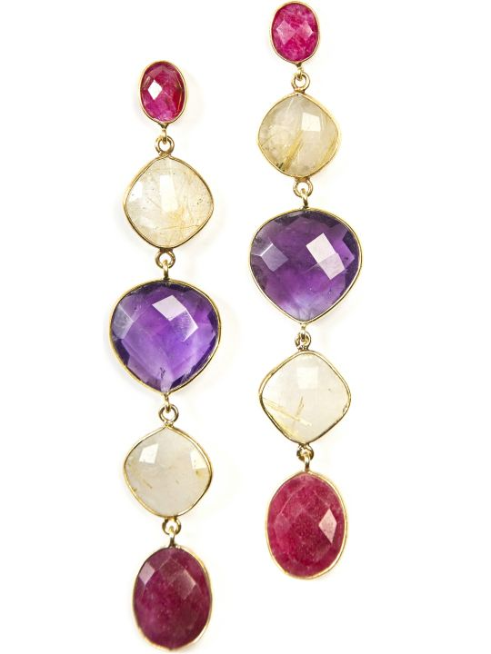 Bianca Baykam Crystal Detail Earrings