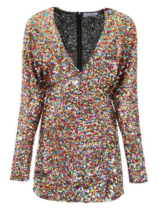 ATTICO Multicolor Sequins Mini Dress