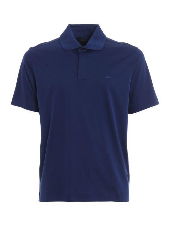 Z Zegna Logo Polo Shirt