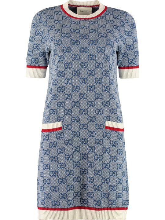 Gucci Intarsia Knit-dress