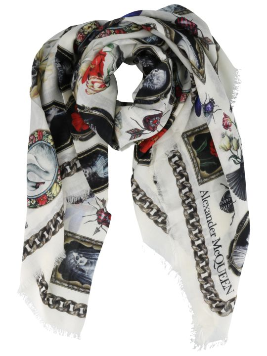 Alexander McQueen Cameo And Curiosities Print Shawl