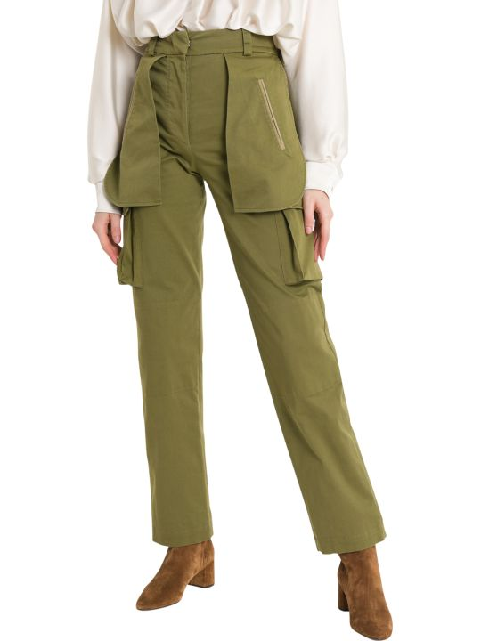 Alberta Ferretti Cargo Pants With Wide Pockets