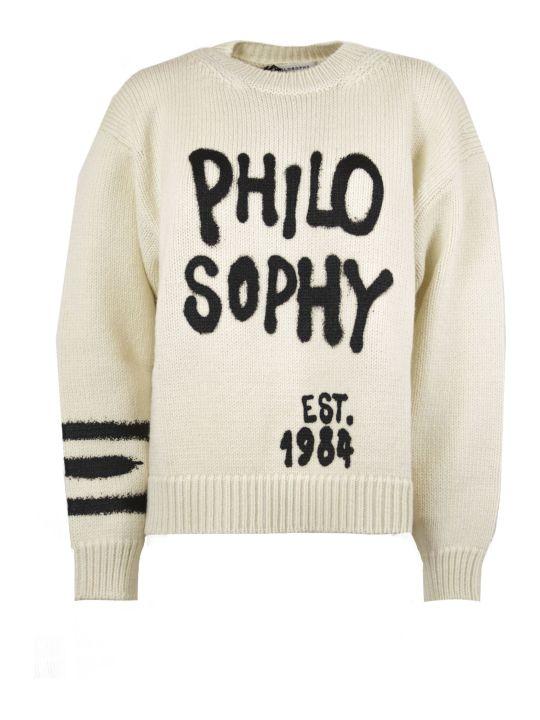 Philosophy di Lorenzo Serafini White Wool Sweater