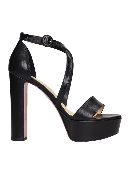 Christian Louboutin Loubi Bee Sandals In Black Leather