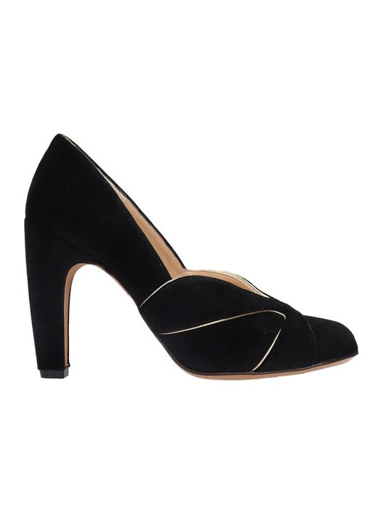 Chie Mihara Denia Pumps In Black Velvet