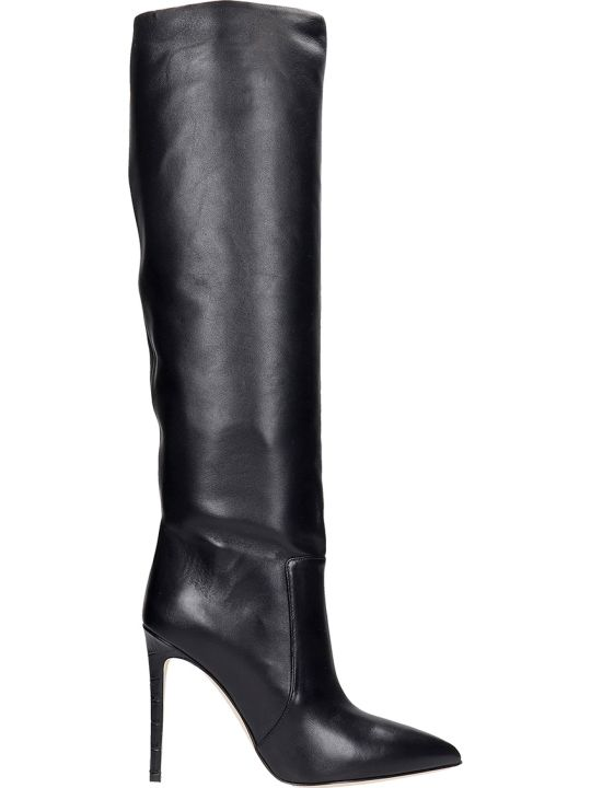 Paris Texas High Heels Boots In Black Leather