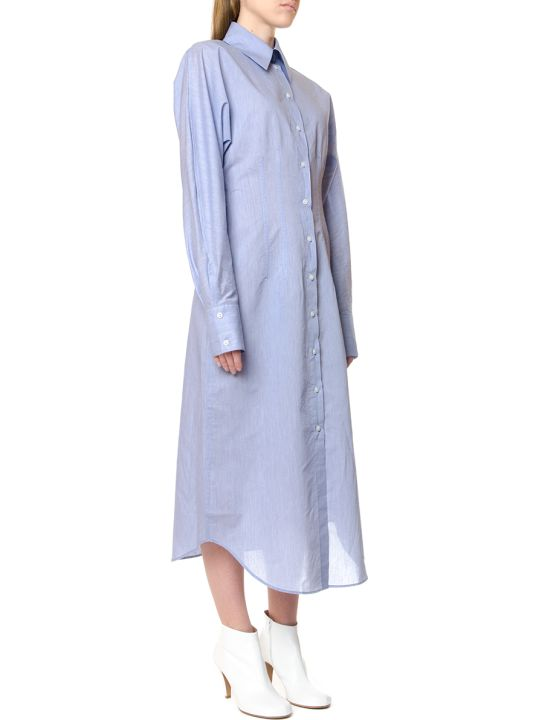 Acne Studios Oversize Powder Blue Shirt Dress