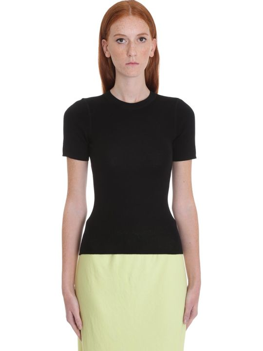 T by Alexander Wang T-shirt In Black Wool